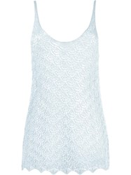 Cecilia Prado Knitted Tank Top Blue