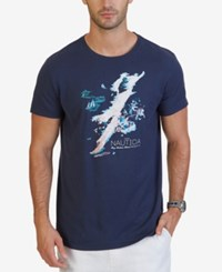 Nautica Men's Graphic Print T Shirt Moodindigo
