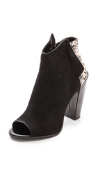 Dolce Vita Laine Booties Black White