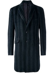 Etro Single Breasted Coat Blue