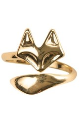 Sterling Forever Fox Ring Metallic