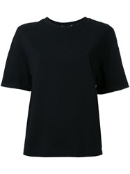 Muveil Back Print T Shirt Black