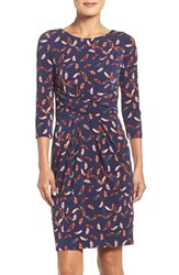 Adrianna Papell Women's Print Stretch Sheath Dress