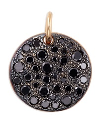 Sabbia 18K Rose Gold And Black Diamond Pendant Pomellato