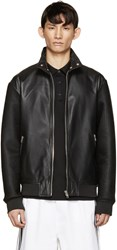 Mcq By Alexander Mcqueen Black Lambskin And Mesh Jacket