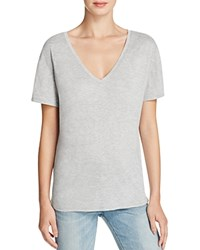 Halston Heritage Solid V Neck Tee Compare At 95 Heather Gray