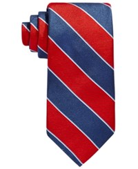 Brooks Brothers Rugby Stripe Tie Red