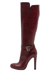 Mai Piu Senza High Heeled Boots Red Bordeaux