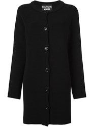 Boutique Moschino Single Breasted Coat Black