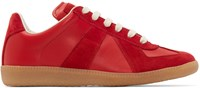 Maison Martin Margiela Red Leather And Suede Replica Sneakers