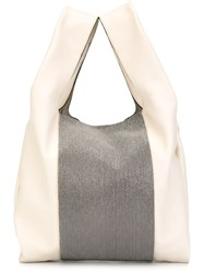Brunello Cucinelli Colour Block Oversize Tote Bag Nude And Neutrals