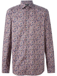 Paul Smith Floral Print Shirt Pink And Purple