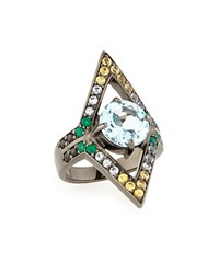 M.C.L. Design By Matthew Campbell Valhalla Mixed Stone Crown Ring