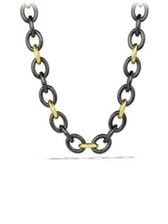 David Yurman Oval Extra Large Link Necklace In Gold Gold Black