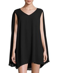Romeo And Juliet Couture Sleeveless Cape Back Minidress Black