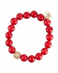 Soul Journey Red Jade Beaded Stretch Bracelet