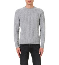 Tom Ford Cable Knit Cashmere Jumper Grey