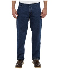 Carhartt Relaxed Fit Straight Leg Flannel Lined Darkstone Men's Jeans Blue