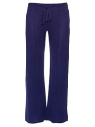 Denis Colomb Garbo Cashmere And Silk Blend Trousers Navy