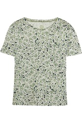 Tory Burch Presley Printed Linen Top