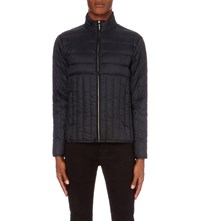 Sandro Quilted Shell Jacket Blue Green