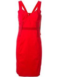Prada Vintage Fitted Dress Red