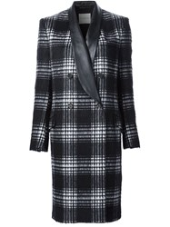 Ungaro Emanuel Double Breasted Checked Coat Black