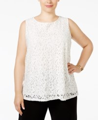 Charter Club Plus Size Sleeveless Lace Top Only At Macy's Cloud