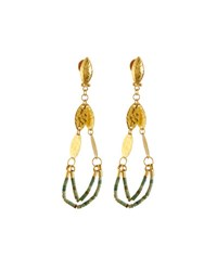 Gurhan 24K Swing Phoenician Turquoise Drop Earrings