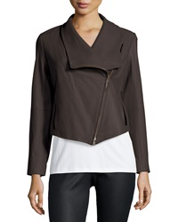 Eileen Fisher Fisher Project Leather Draped Jacket