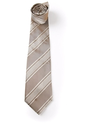 Gianfranco Ferre Vintage Striped Tie Nude And Neutrals