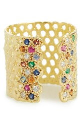 Women's Lara Melchior 'Bague Iii' Diamond And Gemstone Open Ring