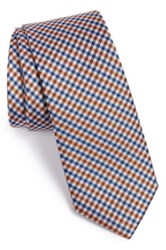 1901 'Payne' Check Silk Tie Orange