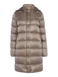 Armani Jeans Super Light Weight Down Coat Taupe