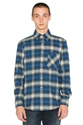 Raised By Wolves Mammoth Button Down Blue