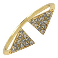 Hysteric Co. Double Triangle Ring Gold