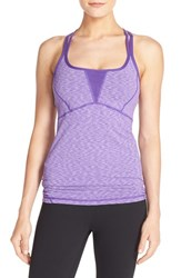 Zella Women's 'Showstopper' Space Dye Tank Purple Jelly