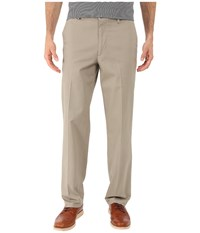 Dockers Signature Khaki D2 Straight Fit Flat Front Timber Wolf Stretch Men's Casual Pants