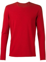 Label Under Construction Fine Knit Fitted Sweater Red