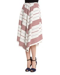 Elizabeth And James Watson Striped A Line Skirt Multi Colors