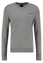 Abercrombie And Fitch Pop Icon Jumper Medium Grey Mottled Grey