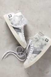 Anthropologie D.A.T.E. Hill High Stardust Sneakers Silver