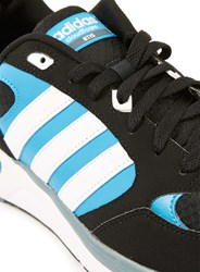 Topman Adidas Neo Cloudfoam 8Tis Black And Blue Trainers
