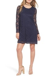 One Clothing Women's Long Sleeve Lace Shift Dress