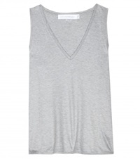 Victoria Beckham V Neck Tank Top Grey