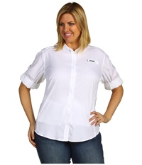 Columbia Plus Size Tamiami Ii L S Shirt White Women's Long Sleeve Button Up