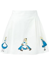 Olympia Le Tan Disney Motif Skirt White