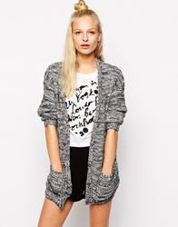 Monki Oversized Cardigan Blackwhite