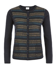 Eastex Stitch Front Cardigan Multi Coloured