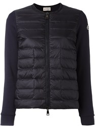 Moncler Padded Front Cropped Jacket Blue